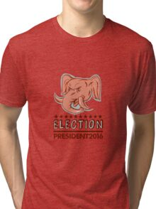 Election President 2016 Republican Elephant Mascot Tri-blend T-Shirt