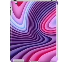 Purple and Pink Waves iPad Case/Skin