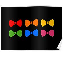 Rainbow Bows Pattern Poster