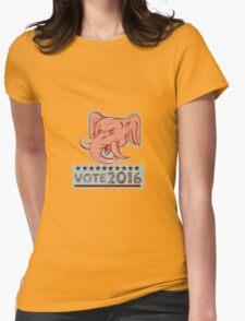 Vote 2016 Republican Elephant Mascot Head Etching T-Shirt