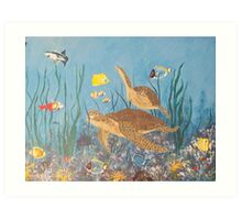 Life at the Coral Reef Art Print