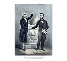 Washington And Lincoln Photographic Print