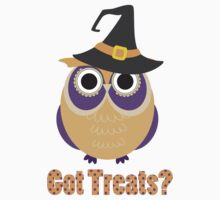Got Treats Halloween Owl 2 One Piece - Short Sleeve