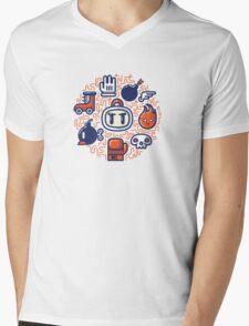 Bomberman Essentials Mens V-Neck T-Shirt