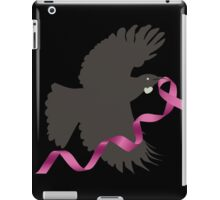 Flying Tui with Pink Ribbon iPad Case/Skin