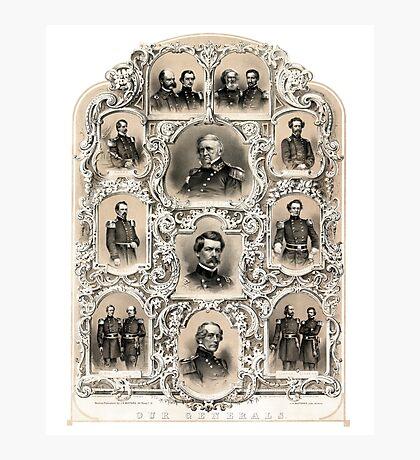 Our Generals -- Union Civil War Photographic Print