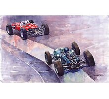 Ferrari 158 vs Brabham Climax German GP 1964 Photographic Print
