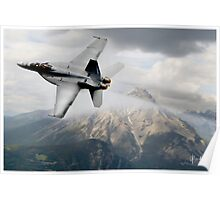 Super Hornet over the Mountain Poster