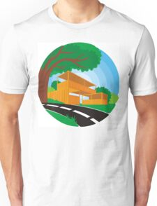 landscape with building illustration Unisex T-Shirt