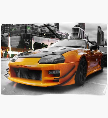 Pimped street car racer Front Poster