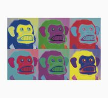 Warhol Musical Jolly Chimp T-shirt by Margaret Bryant