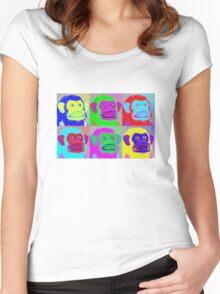 Warhol Musical Jolly Chimp T-shirt Women's Fitted Scoop T-Shirt
