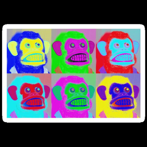 Warhol Musical Jolly Chimp T-shirt by Margaret Bryant