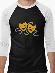 Theatre Drama Masks Men's Baseball ¾ T-Shirt