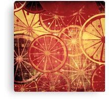 Lemons grunge Canvas Print