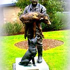 """Bronze Statue """"New Life"""" Learning from the Past, Looking to the Future - Melbourne University Veterinary Science Faculty* by EdsMum"""