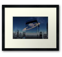 City.....waiting for substance Framed Print