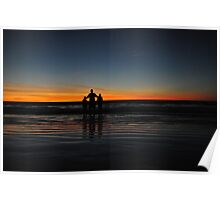 Triplet Silhouette  Poster