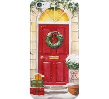 Red Door decorated for Christmas iPhone Case/Skin