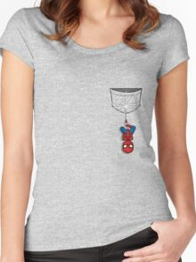 Pocket Spiderman Women's Fitted Scoop T-Shirt
