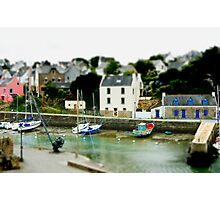 Port du Bono Brittany France - Tilt Shift Effect Photographic Print