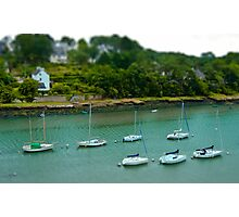 River of Le Bono Auray Brittany France - Tilt Shift Effect Photographic Print