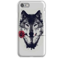 The Wolf With a Rose iPhone Case/Skin