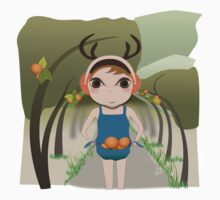 Deery Fairy and Oranges One Piece - Short Sleeve