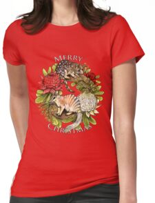 Australian Christmas Wreath Womens Fitted T-Shirt