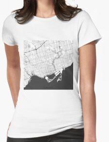 Toronto Map Gray T-Shirt