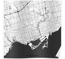 Toronto Map Gray Poster