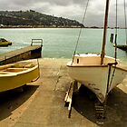 Two old seadogs, Sumner launch ramp, New Zealand by Paul Gilbert