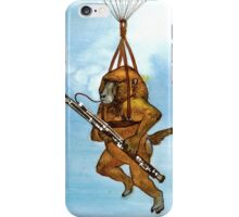 A Baboon Plays Bassoon From Balloons iPhone Case/Skin