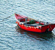Red Fishing Boat by newbeltane