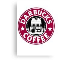 Darbucks Coffee RED Canvas Print