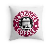 Darbucks Coffee RED Throw Pillow