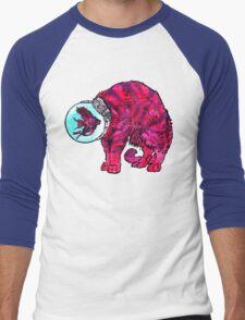 CATFISHTRONAUT (magenta) Men's Baseball ¾ T-Shirt
