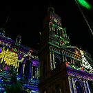 Town Hall Lit Up by James Deverich