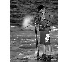 The Smokin Fisherman Photographic Print