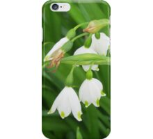 Petite snowdrops iPhone Case/Skin