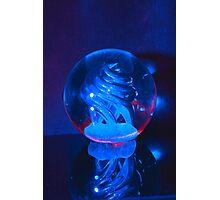 BLUE GLASS BALL Photographic Print