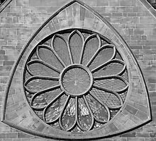 Cathedral Window in B&W by AnnDixon