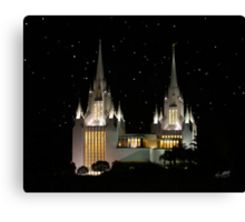 San Diego Temple Starry Night 20x24 Canvas Print