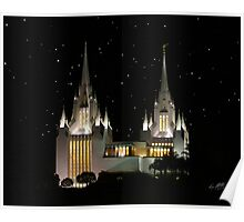 San Diego Temple Starry Night 20x24 Poster