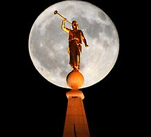 Angel Moroni in the Moon 20x24 by Ken Fortie