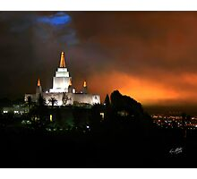 Oakland Temple at Sunset 20x24 Photographic Print