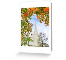 San Diego Temple in Autumn 20x24 Greeting Card
