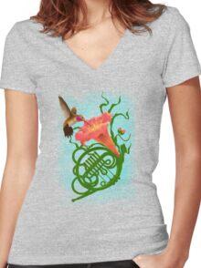 Musical Nectar Women's Fitted V-Neck T-Shirt