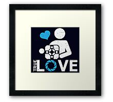 Portal True Love Companion Cube Framed Print