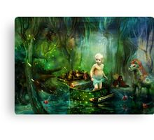 Elliot and her toys Canvas Print